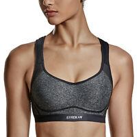 Women's High Impact Cross-back Full Coverage Sports Bra with Integrated Wire