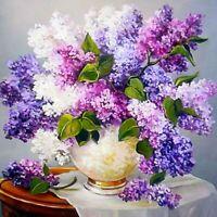 Syringa Flower 5D Diamond Painting Kit Cross Stitch Embroidery Mosaic Home Decor