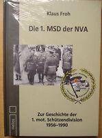DIE 1 MSD der NVA Geschichte Mot-Schützendivision DDR Kaserne Berlin Buch NEU