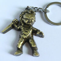 New Child's Play Chucky Bronze Gold Metal Keyring Keychain