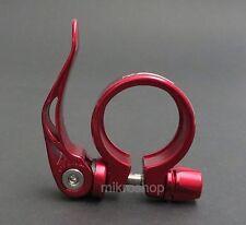Sattelklemme - Klemmring XLC 34,9 Rot eloxiert Aluminium mit Schnellspanner