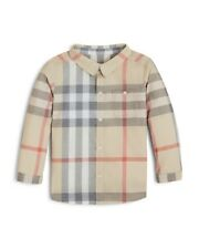 NEW Burberry Boys Trauls Check Print Long Sleeve Shirt, Size 18months / 86cm