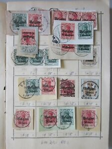 Deutsche Post in Belgien mit meist gestempelten Briefstücken (1361)