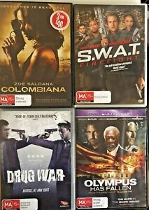 X4 Action Movies COLOMBIANA, S.W.A.T Firefight, Drug War, Olympus Has Fallen L