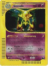 CCG 75 Pokemon Skyridge Holo Simsala H1/H32 Deutsche Karte