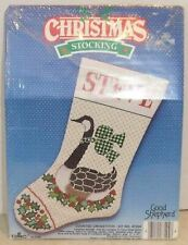 NEW DMC Floss Canada Goose Christmas Stocking Counted Cross Stitched Kit