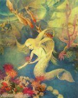 Little Mermaid : Dorothy Lathrop :  circa 1922  :  Archival Quality Art Print
