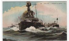 French Navy Battle Ship Convoy Cuirasses en Marche Toulon France 1910s postcard