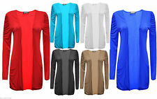 Viscose Patternless Long Jumpers & Cardigans for Women