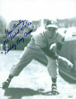 1952 BRAVES Gene Conley signed 8x10 photo w/ Debut & Daddy Long Arms JSA AUTO