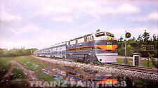 Robert West 115 Central of Georgia Crossing Railroad Art Print - Signed