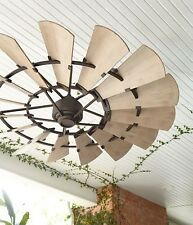 "Quorum OUTDOOR WINDMILL Ceiling Fan 72""; Light Kits Now Available!!"