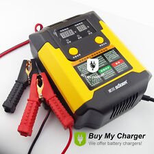 12V/24V Smart Auto Motorcycle Lead Acid Battery Charger &Digital Display AC 220V