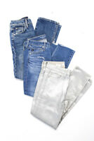 Joes AG Hudson Womens Cotton Mid Rise Slim Cut Skinny Jeans Sizes 24 Lot 3