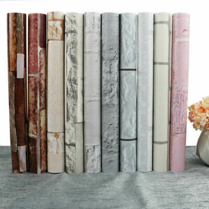10m 3D Brick Wallpaper Self Adhesive Contact Paper Wall Stickers Kitchen Bedroom