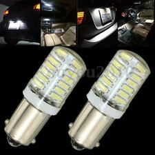 2x BA9S T11 T4W 3014 LED 24-SMD Car Side Light Bulb Interior Lamp White DC 12V