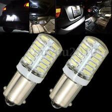 2x BA9S T11 T4W 3014 LED 24-SMD Car Side Light Bulb Interior Lamp White DC 12V