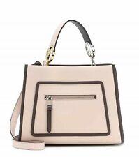 42cc1d98fb91 Fendi Runaway Bag Ice Gray Leather W Black Trim Shopping Tote Handbag 8BH344