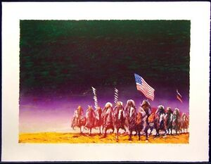 """Earl Biss """"The Green Green Grass Of Home"""" on Paper unframed Hand Signed"""