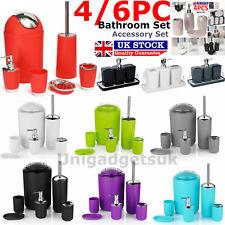 4/6pc Bathroom Accessories Set Bin Toothbrush Tumbler Holder Soap Dish Dispenser