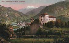 BOZEN, Ansichtskarte 1956, Haselburg in Hessen mit Blick auf Bozen