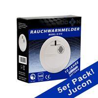 5er Pack Rauchmelder Jucon 10 Jahre Q-Siegel, VDS Zertifiziert