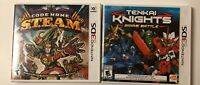 Code Name: S.T.E.A.M. Steam And Tenkai  Knights Nintendo 3DS Lot Of 2 Games