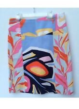 Pucci Multicolor Cotton Abstract Print Straight Skirt Size 6