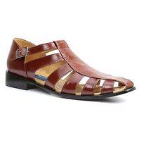 Giorgio Brutini Mens Quill 21099 T-Strap City Dressy Sandals Cognac Size 14 M