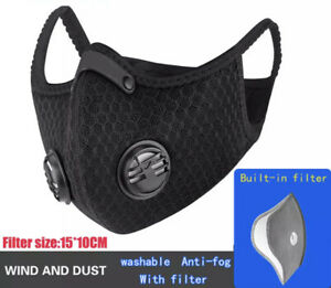 ACTIVATED RESPIRATORY FILTERED BREATHABLE MASK,POLLUTANT & DEBRIS FILTER USA