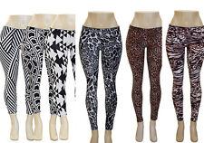 Stretch Spandex Multi Print Leggings Animal Geometric Prints
