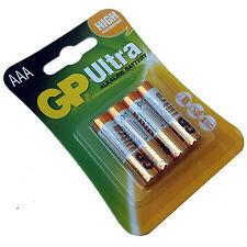Paquete De 4 Pilas AAA GP Ultra Alcalino Alta Potencia 24AU LR03 MN2400 2022 de caducidad