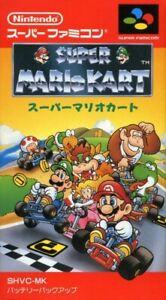 SNES  Super Famicom Super Mario Kart JAPAN CIB boxed very good condition