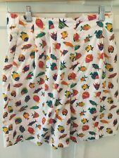 Vintage David Brooks Fish Print White Size 10 Golf Shorts