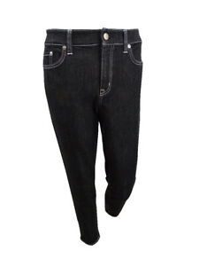 Lauren by Ralph Lauren Women's Petite Skinny Ankle Jeans (8P, Black)