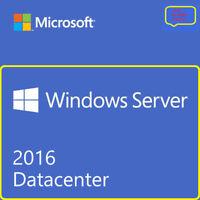 Windows Server 2016 Datacenter 16 Core 2 CPU 5 User Cal's initial License+ ESD