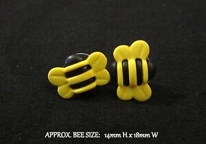 Bee Earrings Stud~Bumble Bee Honey Bees~Hypoallergenic Post