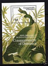 Dominica 1986 Birds John Audubon MS 1017 MNH