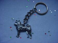 SHIBA INU dog PEWTER Silver KEYCHAIN Christmas ornament Key Chain Ring puppy NEW