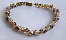 """""""Goldie"""" Shades or Gold Beaded Bracelet. Handmade in the USA One of a kind."""