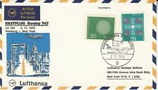 1970 Lufthansa First Flight Boeing 747 Hamburg - New York First Flight Cover.