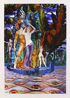 Ernst Fuchs - Aphrodite und Perseus auf der Augeninsel - nummeriert handsigniert
