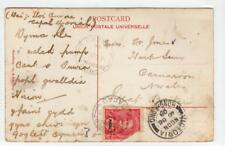 More details for macau: 1908 picture postcard to wales via hong kong (c36614)