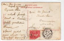 MACAU: 1908 picture postcard to Wales via Hong Kong (C36614)