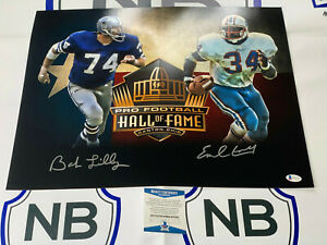 Bob Lilly & Earl Campbell Signed LIMITED EDITION HOF 16x20 Photo Beckett COA 2