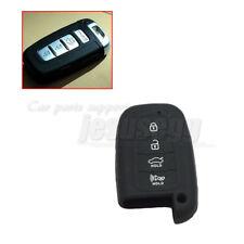 Black Silicone Remote Key Case Cover Fob For HYUNDAI ix35 Santa Fe 2013 4 Btn