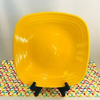 Fiestaware Daffodil Square Dinner Plate Fiesta Bright Yellow Dinner Plate