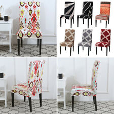 Home Dining Room Wedding Party Banquet Chair Cover Seat Cover Stretch Polyester