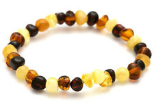 GENUINE AMBER HEALING BRACELET FOR CHILD ROUND SHAPE BEADS UK QUALITY
