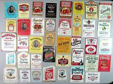 Booze Vintage 39 Liquor Bottle Label Lot Whiskey Vodka Gin Wine Scuppernong NOS